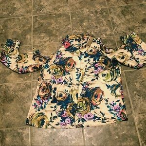 Satin Like Floral Button Up